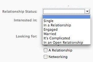 """Facebook """"relationship status"""""""