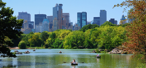 A great date at the Central Park Lake